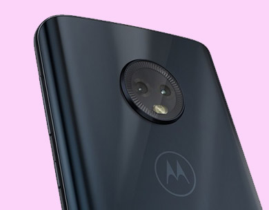 Moto G5 Plus smartphone back with camera