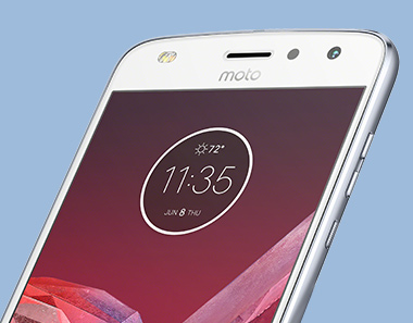 Moto Z play smartphone back with camera